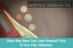 Alimony and taxes